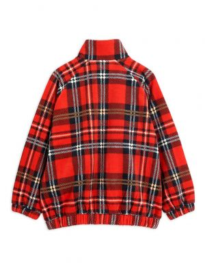 Mini Rodini Fleece Check Jacket Red