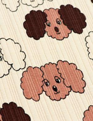 Mini Rodini Fluffy Dog SS Tee Beige