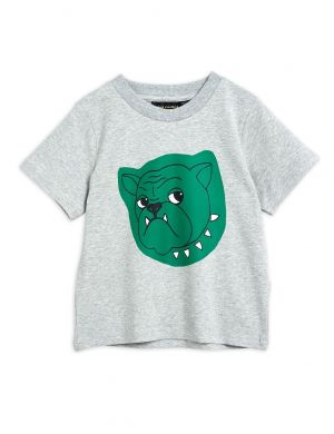 Mini Rodini Bulldog sp Tee Grey Melange