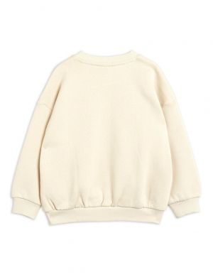 Mini Rodini Terrier sp Sweatshirt Offwhite Pink