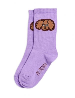Mini Rodini Fluffy Dog Socks Purple