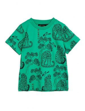 Mini Rodini Tigers aop SS Tee Green