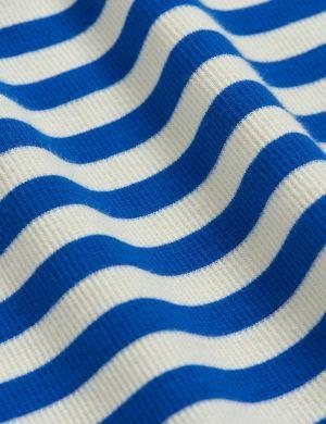 Mini Rodini Stripe Rib SS Tee Blue