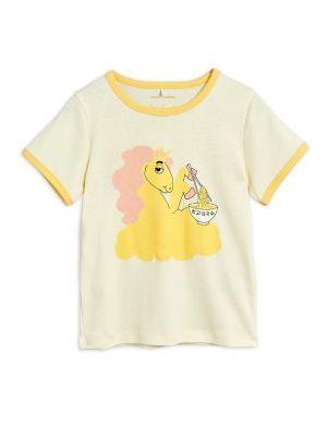 Mini Rodini Unicorn Noodles sp SS Tee Yellow