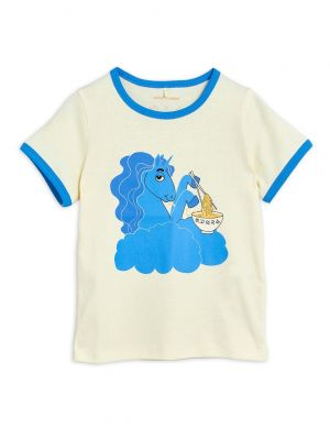 Mini Rodini Unicorn Noodles sp SS Tee Blue