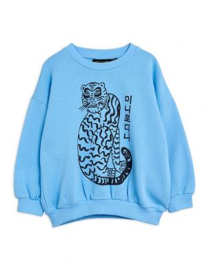Mini Rodini Tiger sp Sweatshirt Light Blue