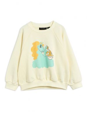 Mini Rodini Unicorn Noodles sp Sweatshirt Offwhite