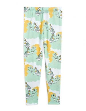 Mini Rodini Unicorn Noodles aop Leggings Green