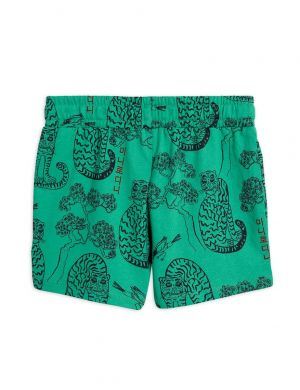 Mini Rodini Tiger aop Shorts Green