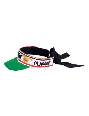 Mini Rodini Moscow Bow Tie Visor Green