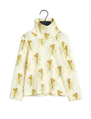 Mini Rodini Winterflowers Turtleneck aop LS Tee