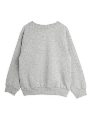 Mini Rodini Beaver Hike Sweatshirt Grey Melange