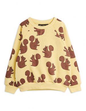 Mini Rodini Squirrel aop Sweater Yellow