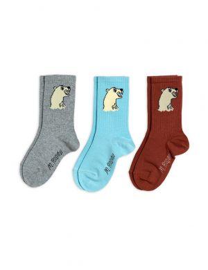 Mini Rodini Polar Bear Socks 3-pack