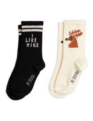 Mini Rodini Hike & Deer Socks 2-Pack