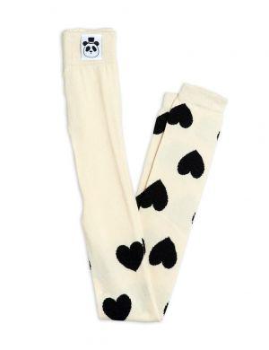 Mini Rodini Hearts Leggings Offwhite
