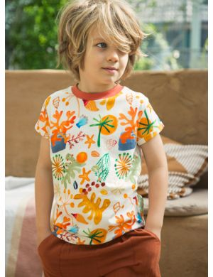 Ammehoela Zoe T-shirt Coral aop