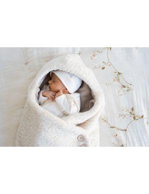 1+ in the family Leo Baby Beanie Ecru