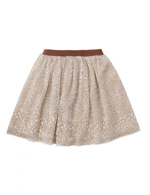Ammehoela Dolly Skirt Metallic Leopard