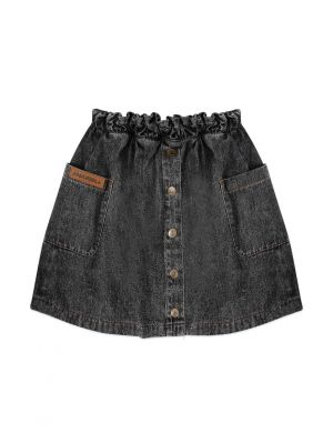 Ammehoela Flynn Denim Skirt Black Washed
