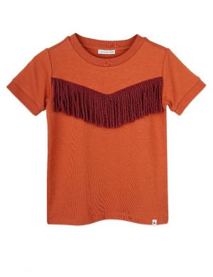 Ammehoela Ringer T-shirt Bombay Brown