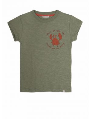 Ammehoela Zoe T-shirt Oil-Green Crab