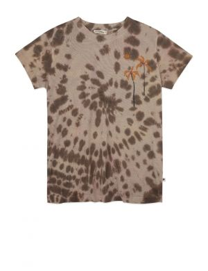 Ammehoela Zoe T-shirt Tie Dye Coffee