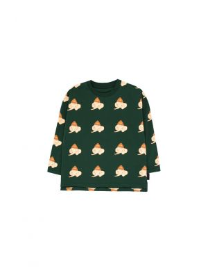 Tiny Cottons Luckyphant LS Tee green/light cream