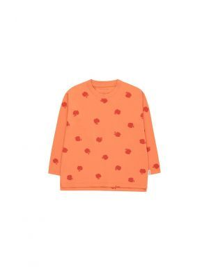 Tiny Cottons Apples LS TEE coral/burgundy