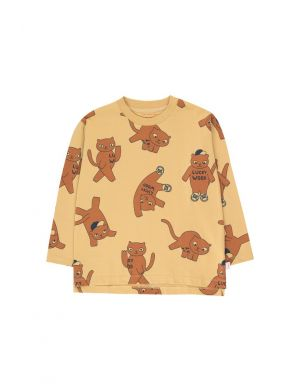 Tiny Cottons Cats LS Tee sand/brown