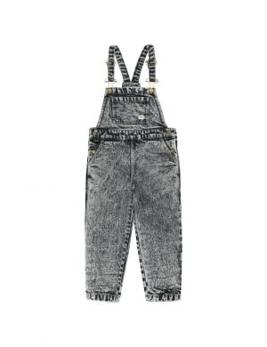 Tiny Cottons Denim Overall Snowy Black
