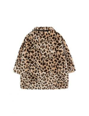Tiny Cottons Faux Fur Coat Leopard