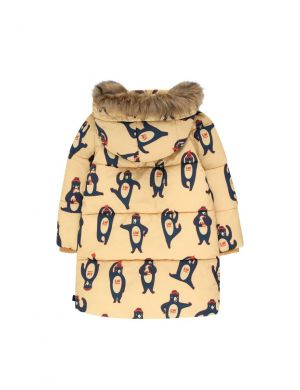 Tiny Cottons Bears Padded Jacket Sand/True Navy