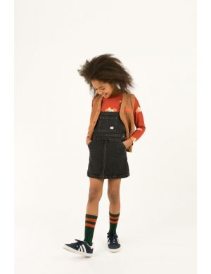 Tiny Cottons Denim Short Dress snowy black