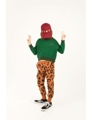 Tiny Cottons Animal Print Sweatpant brown/dark brown