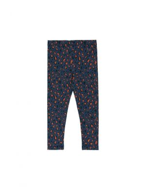 Tiny Cottons Animal Print Pant Navy/Dark Brown