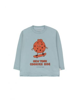 Tiny Cottons Cookie Ride Tee Warm Grey/Sienna