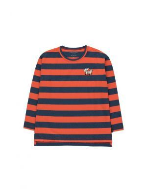 Tiny Cottons Tiny Fox Stripes Tee Light Navy/Red