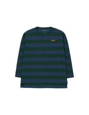Tiny Cottons Stripes Tee Dark Green/Light Navy