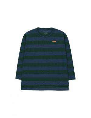 Tiny Cottons Stripes Tee Dark Green/Light Navy
