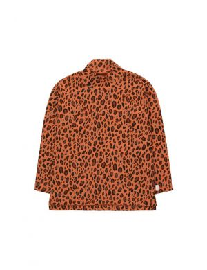 Tiny Cottons Animal Print Mockneck Tee