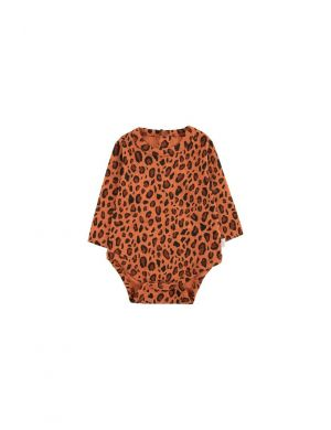 Tiny Cottons Animal Print Body Sienna/Dark Brown