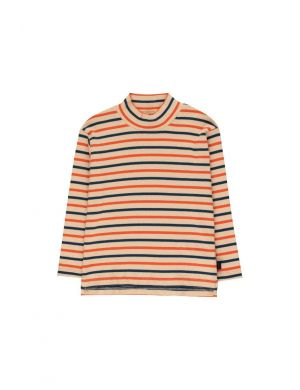 Tiny Cottons Stripes Mockneck Tee