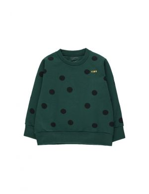 Tiny Cottons Big Dots Sweatshirt Dark Green/Black