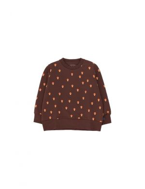 Tiny Cottons Mushrooms Sweatshirt Ultra Brown/Red
