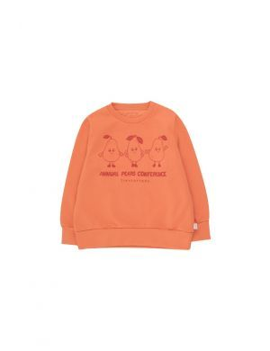 Tiny Cottons Pears Conference Sweatshirt Peachy Red