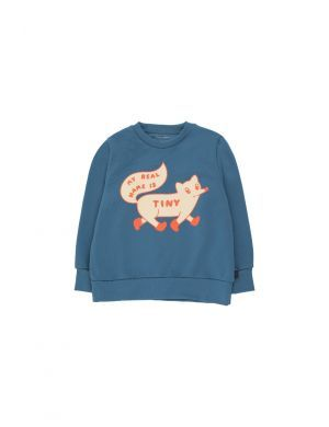 Tiny Cottons Tiny Fox Sweatshirt Sea Blue/Cream