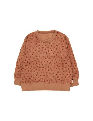 Tiny Cottons Tiny Flowers Sweatshirt Tan/Burgundy