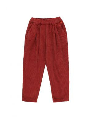 Tiny Cottons Solid Pleated Pant Dark Brown