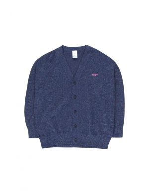 Tiny Cottons Shiny Cardigan light navy